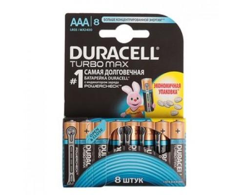 Элемент питания  AAA Duracell Turbo Max LR03-8BL 8шт./уп. (1шт)