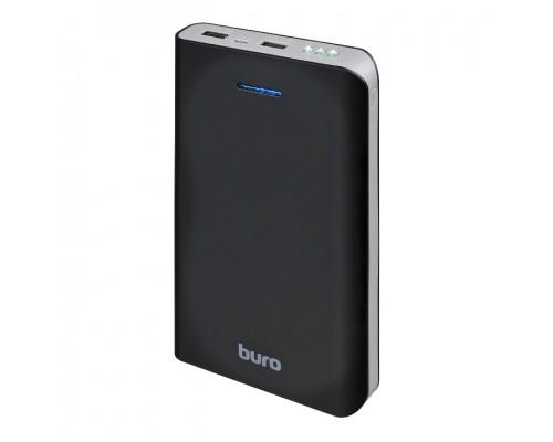 Аккумулятор Buro RA-25000 Power Bank универсальный, для портативных устройств, 25000mAh, Li-Ion, 2xUSB, 2,1A+1A, фонарик, черный