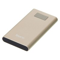 Аккумулятор Buro RA-10000-QC3.0-I&O Power Bank универсальный, для портативных устройств, 10000mAh, Li-Pol, 2xUSB, Quick Charge 3.0, золотистый