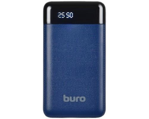 Аккумулятор Buro RC-16000-DB Power Bank универсальный, для портативных устройств, 16000mAh, Li-Ion, 2xUSB, 2,1A, темно-синий