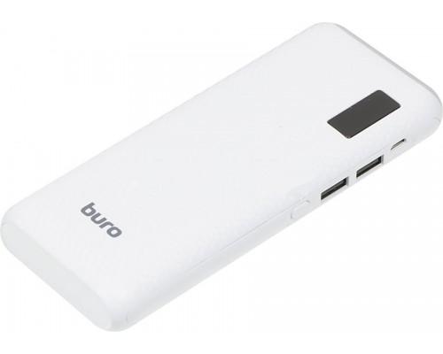 Аккумулятор Buro RC-12750W Power Bank универсальный, для портативных устройств, 12750mAh, Li-Ion, 2xUSB, 1A, белый