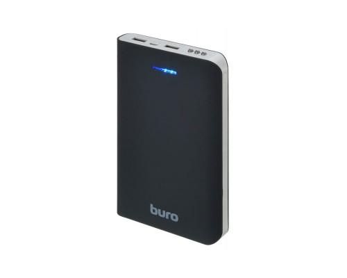 Аккумулятор Buro RA-30000 Power Bank универсальный, для портативных устройств, 30000mAh, Li-Ion, 2xUSB, 2,1A+1A, фонарик, черный-серый