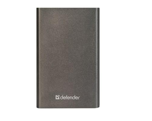 Аккумулятор Defender ExtraLife 4000B универсальный для портативных устройств 4000mAh, Li-Pol, металлический корпус, 1xUSB, серый (83619)