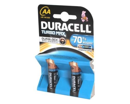 Элемент питания  AA Duracell Turbo MAX LR6-2BL (2шт./уп.), 1штука