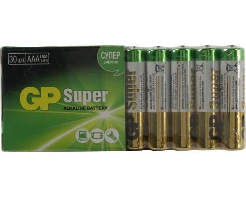 Элемент питания  AAA GP Super Alkaline LR03 30шт./уп. (1шт.)
