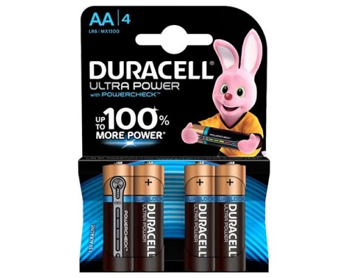 Элемент питания  AA Duracell Ultra Power MX1500/LR6-4BL (блистер 4 штуки), 1 штука