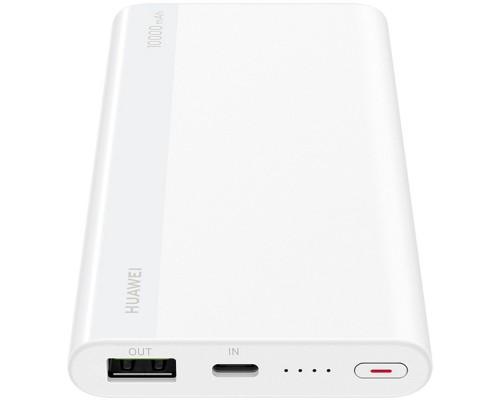 Аккумулятор HUAWEI CP11QC Power Bank универсальный, для портативных устройств, 10000mAh, Li-Polimer, вход 1xUSB Type-C с возможностью капельной зарядки, выход 1xUSB 2A, кабель для зарядки, белый