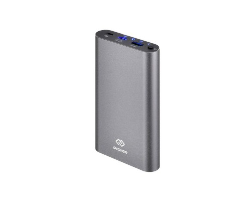 Аккумулятор Digma DG-ME-15000, 15000mAh, Li-Pol, 1xUSB, 1xType-C In/Out 3A, металлический корпус, серый