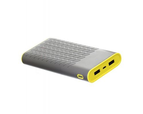Аккумулятор Hoco B31A Power Bank универсальный, для портативных устройств, 30000mAh, Li-Ion, 2xUSB 2,1A, серый