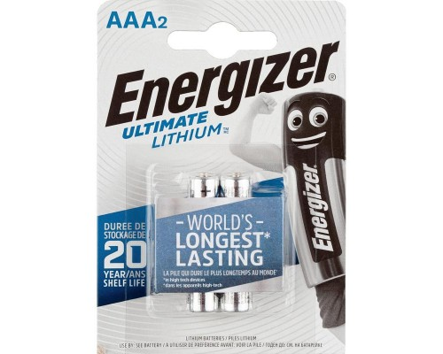 Элемент питания  AAA Energizer LR03-1,5v Ultimate Lithium