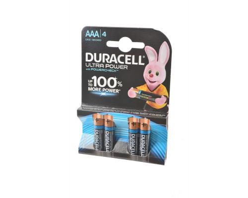 Элемент питания  AAA Duracell Ultra Power MX2400/LR03 4шт./уп. (1шт)