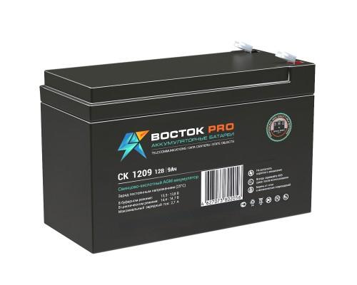 Аккумуляторная батарея для ИБП ВОСТОК CK 1209 12V, 9A*h