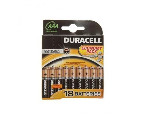 Элемент питания  AAA Duracell Basic MN 2400/LR03 B18 (1шт)