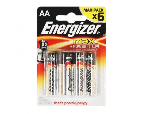 Элемент питания  AA Energizer E91/LR6 BP4 Max+Powerseal (1шт)