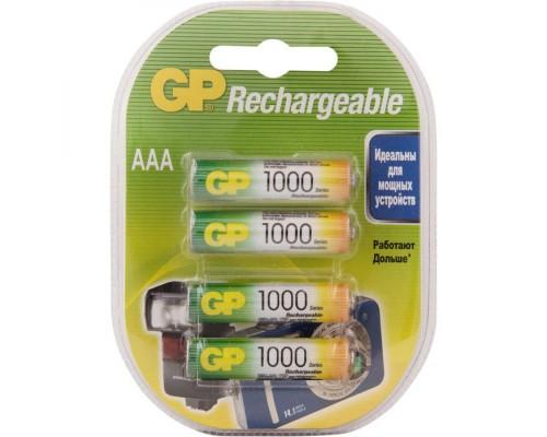 Аккумулятор AAA GP 100 HC  Ni-Mh 1000mAh 4шт./уп. (1шт)