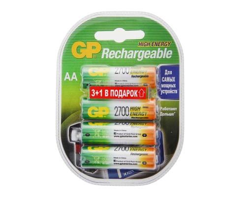 Аккумулятор AA GP 270AAHC3/1 NiMH 2700 mAh 4шт./уп. (1шт)