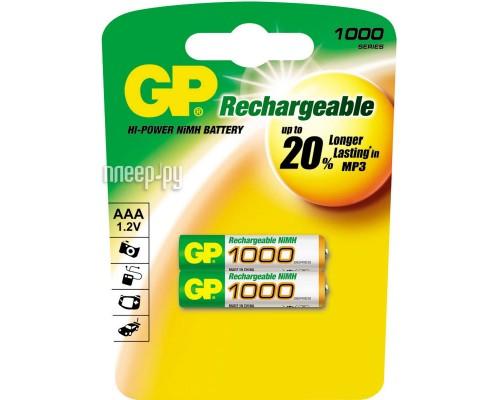 Аккумулятор AAA GP 100AAAHC-2CR2 Ni-Mh 1000mAh 2шт./уп. (1шт)