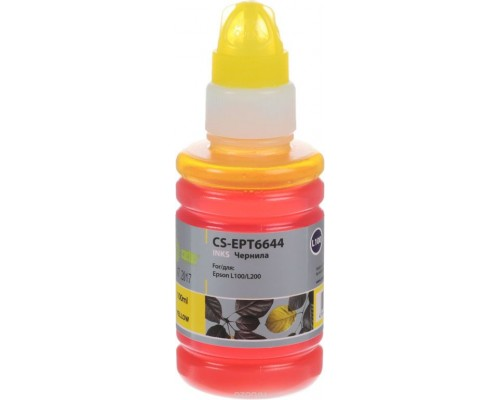 Чернила Epson L100/L200 CS-EPT6644 100ml (Yellow) Cactus