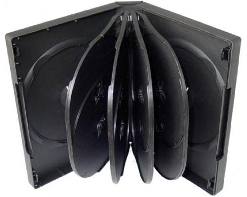 Бокс для  10 DVD, 32мм, глянцевая пленка, черный
