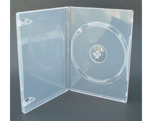 Бокс для  1 DVD, 7мм, глянцевая плёнка, прозрачный