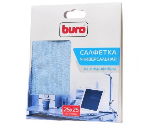 Салфетка чистящая Buro BU-MF, из микрофибры (25х25см)