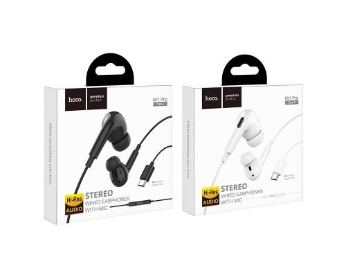 Гарнитура Hoco M1 Pro, вкладыши, длина кабеля 1,2m, Type-C, черный