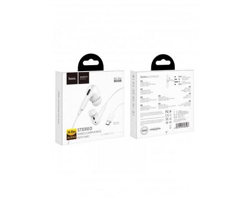 Гарнитура Hoco M1 Pro, вкладыши, длина кабеля 1,2m, Type-C, белый